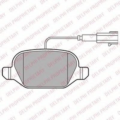 Тормозные колодки DELPHI LP2302 для авто ABARTH с доставкой