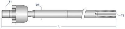 PEAX3915 MOOG Осевой шарнир, рулевая тяга