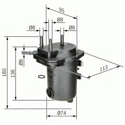 0450907012 BOSCH Топливный фильтр