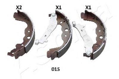 Комплект тормозных колодок (пр-во ASHIKA)