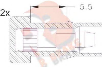 Сигнализатор, износ тормозных колодок R BRAKE купить