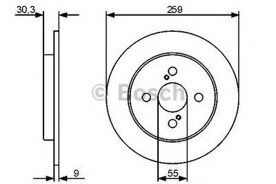 BOSCH 0986479420 Тормозной диск