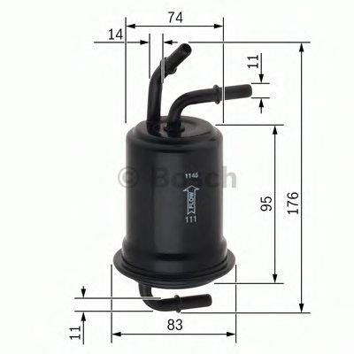 BOSCH F026403012 Топливный фильтр