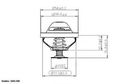 448990D WAHLER Термостат, охлаждающая жидкость