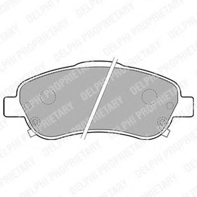 Колодки Тормозные Дисковые DELPHI LP1786 для авто TOYOTA с доставкой