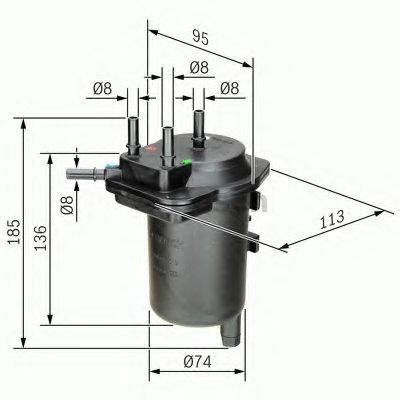 0450907013 BOSCH Топливный фильтр