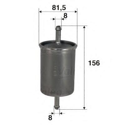 587004 VALEO Топливный фильтр