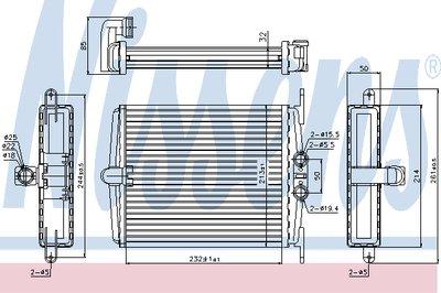 Радиатор отопителя MERCEDES S-CLASS W 140 (91-) (пр-во Nissens)
