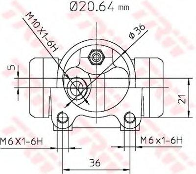 BWF282 TRW Цилиндр тормозной-1