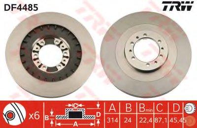 """Диск гальмівний (1 шт.) MITSUBISHI L200/Pajero """"D=314mm """"F """"98-""""09"""