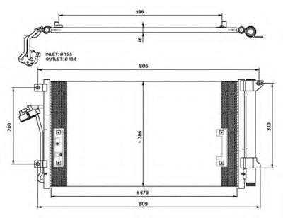 Pадиатоp Кондиционеpа NRF 35639 для авто AUDI, PORSCHE, VW с доставкой