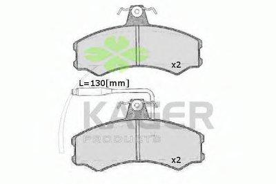 Комплект тормозных колодок, дисковый тормоз KAGER купить