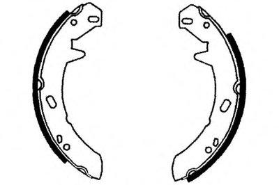 Комплект тормозных колодок; Комплект тормозных колодок, стояночная тормозная система E.T.F. купить