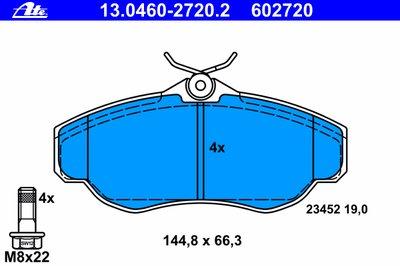 Комплект тормозных колодок, дисковый тормоз ATE купить