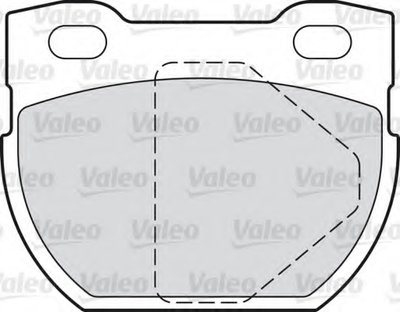 Комплект тормозных колодок, дисковый тормоз VALEO купить