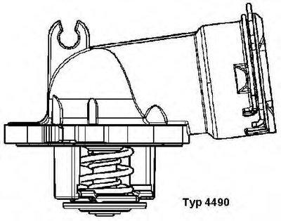 449087D WAHLER Термостат, охлаждающая жидкость