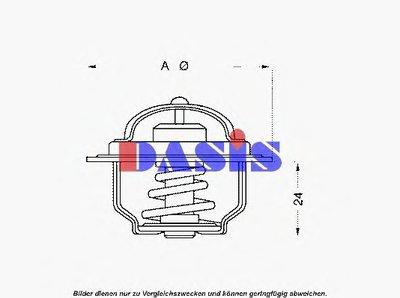 Термостат, охлаждающая жидкость AKS DASIS купить
