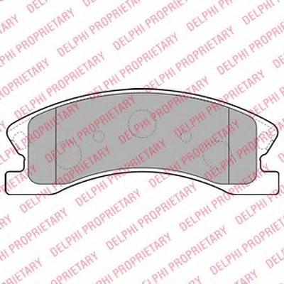 Колодки Тормозные Дисковые DELPHI LP1906 для авто JEEP с доставкой