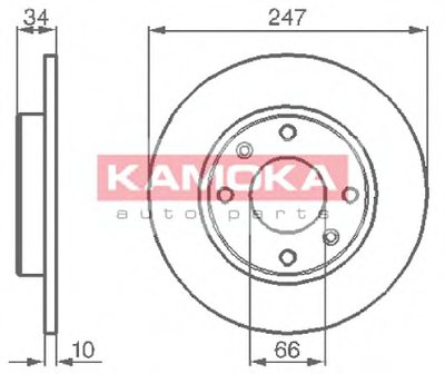 Тормозной диск KAMOKA KAMOKA купить