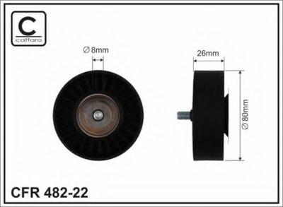 80X8X26 Ролик Направляючий Паска Клинового Bmw X5X6 3.0D 07- CAFFARO 48222 для авто  с доставкой