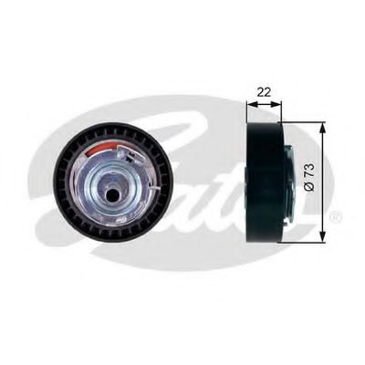 GATES T43225 Натяжной ролик ГРМ