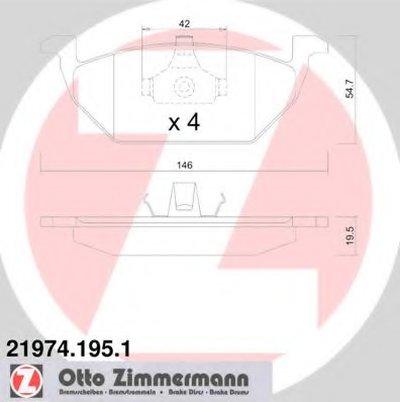 Гальмвн Колодки Перед Audi A3Seat Leonskoda Fa ZIMMERMANN 219741951 для авто AUDI, SEAT, SKODA с доставкой