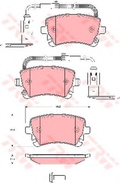 Гальмівні колодки дискові VOLKSWAGEN Phaeton