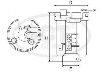 ST6507 SCT GERMANY Топливный фильтр