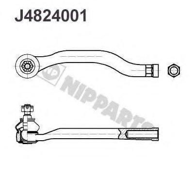 Наконечник Рт Honda Accord 92- Лев. NIPPARTS J4824001 для авто HONDA, ROVER с доставкой