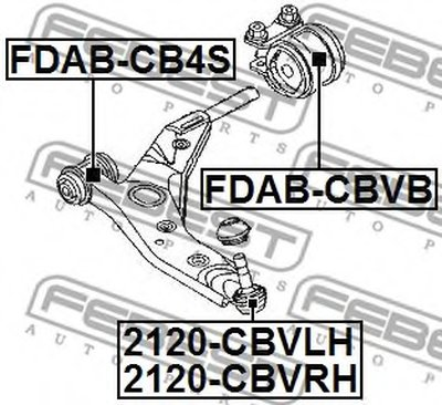 Опора Шаровая Ниж Правая 2120-Cbvrh FEBEST 2120CBVRH для авто  с доставкой
