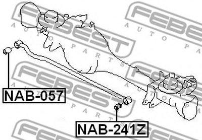 Сайлентблок FEBEST NAB057-1