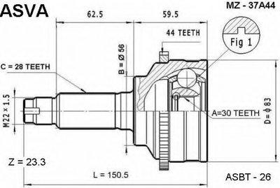 ШРУС НАРУЖНЫЙ 30X56X28 (MAZDA 626 GF 1997-2002)