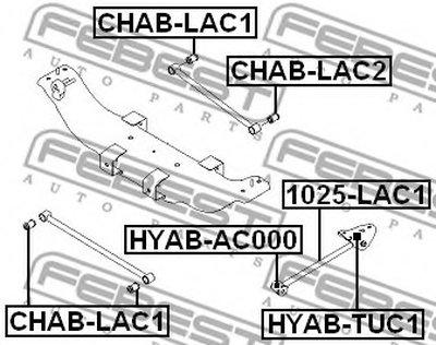 Сайлентблок рычага задней подвески поперечного CHEVROLET LACETTI/OPTRA (J200) 03-08 DAEWOO GENTRA UZ 12-/TOYOTA COROLLA FEBEST CHABLAC1