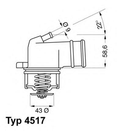 451787D WAHLER Термостат, охлаждающая жидкость