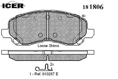 Колодки тормозные дисковые