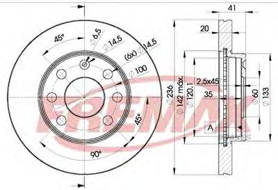 BD1440 FREMAX Тормозной диск