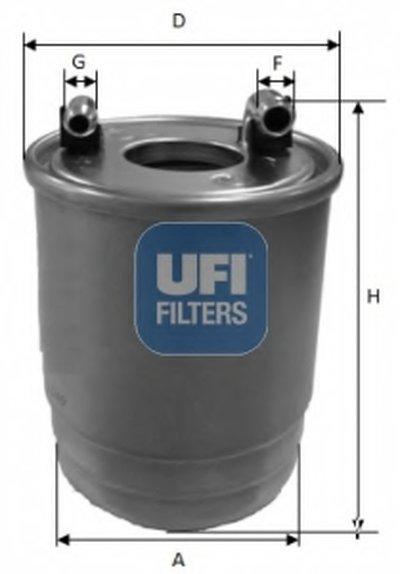 2411200 UFI Топливный фильтр