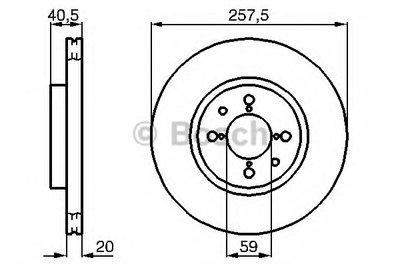 Гальмівний диск ALFA ROMEO FIAT LANCIA Alfa 145,146,155,Brava,Doblo, Marea, Palio, Punto, Tipo, Dedr