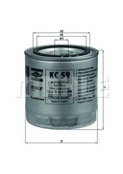 KC59 KNECHT Топливный фильтр