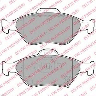 Тормозные колодки DELPHI LP2005 для авто TOYOTA с доставкой