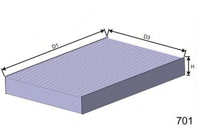 HB181 MISFAT Фильтр, воздух во внутренном пространстве