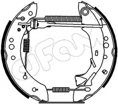 Комплект тормозных колодок Kit premounted CIFAM купить