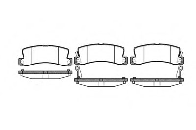 Колодки Торм.дисковые ROADHOUSE 221422 для авто GEO, LEXUS, TOYOTA с доставкой