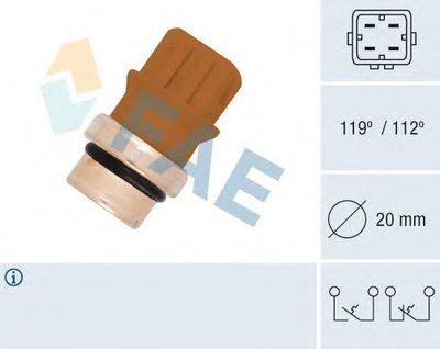 термовыключатель, сигнальная лампа охлаждающей жидкости FAE 35580 для авто AUDI, FORD, SEAT, SKODA, VW с доставкой