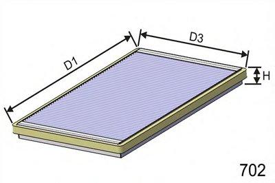 HB145 MISFAT Фильтр, воздух во внутренном пространстве