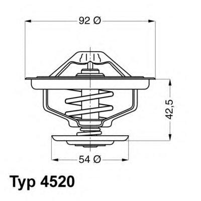 452080D WAHLER Термостат, охлаждающая жидкость