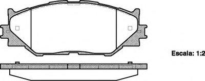 Гальмiвнi Колодки, К-Кт. ROADHOUSE 2120100 для авто LEXUS с доставкой