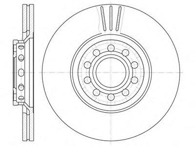 Диск тормозной AUDI A4,A6, SKODA SUPERB, VW PASSAT, вент. (пр-во REMSA)