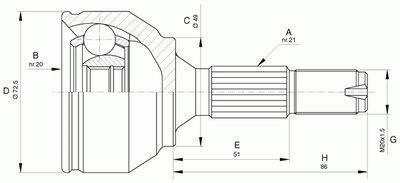 Шарнирный комплект, приводной вал SPIN OPEN PARTS купить