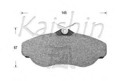 Комплект тормозных колодок, дисковый тормоз KAISHIN купить